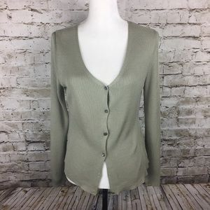 J Crew pistachio silk cardigan sweater